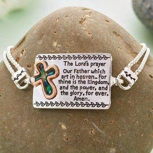 Jewelry - Bracelet- NEW- Christian- The Lord's Prayer 7 Inch